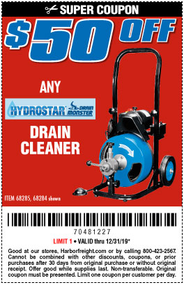 $50 off Any Hydrostar Drain Cleaner