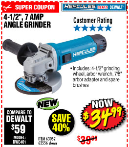 4-1/2 in. 7 Amp Small Angle Grinder