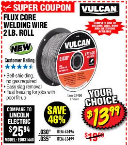 Flux Core Welding Wire, 2 lb. Roll
