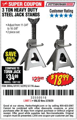 3 Ton Steel Jack Stands