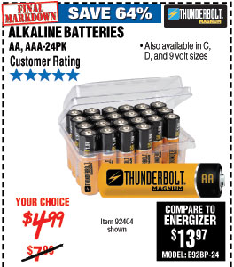 Alkaline Batteries 24 Pk
