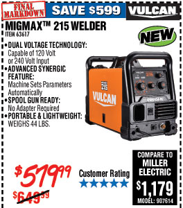 MIGMax™ 215 Welder with 120/240 Volt Input