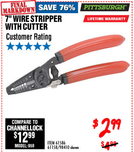 7 in. Wire Stripper with Cutter