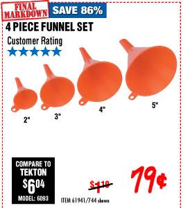 Funnel Set 4 Pc.