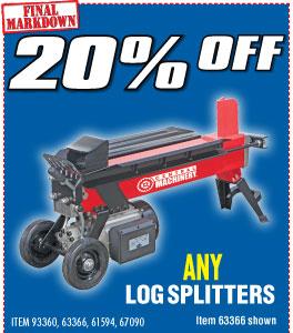 20% Log Splitters