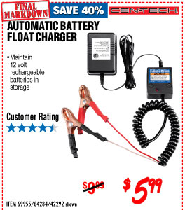 Automatic Battery Float Charger