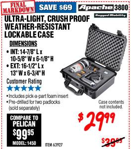 3800 Weatherproof Protective Case - 16-5/16 In.