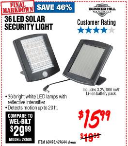 36 LED Solar Security Light