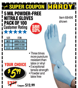 5 mil Nitrile Powder-Free Gloves