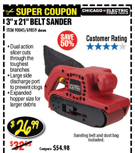 6.5 Amp 3 in. x 21 in. Heavy Duty Belt Sander