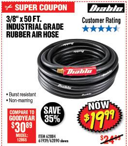 3/8 in. x 50 ft. Premium Rubber Air Hose