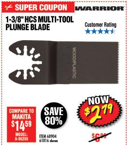 1-3/8 in. High Carbon Steel Multi-Tool Plunge Blade