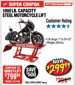 1000 lb. Steel Motorcycle Lift