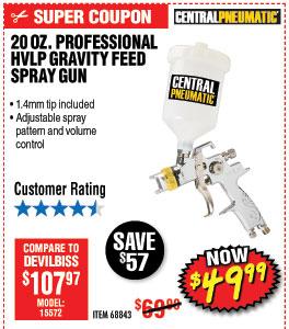 20 oz. Professional HVLP Gravity Feed Air Spray Gun