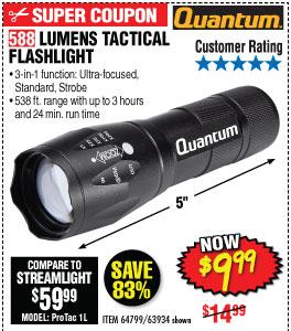 588 Lumen Tactical Flashlightdx