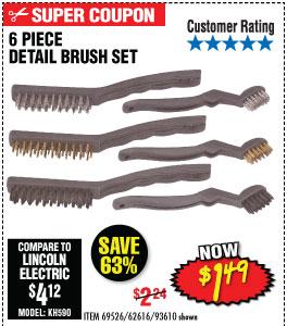 6 Pc Detail Brush Set