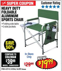 Foldable Aluminum Sports Chair