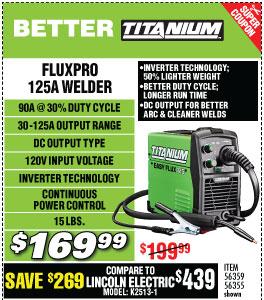 Titanium Flux 125 Amp Welder