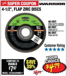 4-1/2 in. 80 Grit Flap Zirc Disc