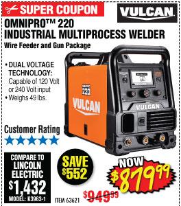 OmniPro™ 220 Industrial Multiprocess Welder with 120/240 Volt Input