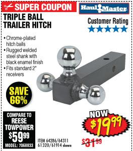 TRIPLE BALL TRAILER HITCH