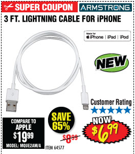 3 Ft. LIghtning Cable for iPhone