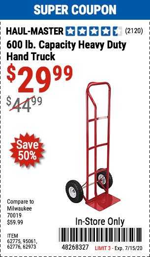 600 lb. Capacity Heavy Duty Hand Truck