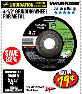 4-1/2 in. 24 Grit Metal Grinding Wheel