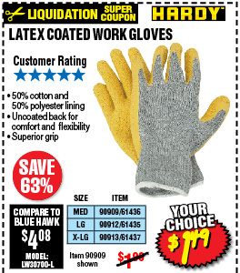 Latex Coated Work Glove