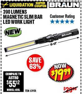 390 Lumen Magnetic Slim Bar Folding LED Worklight