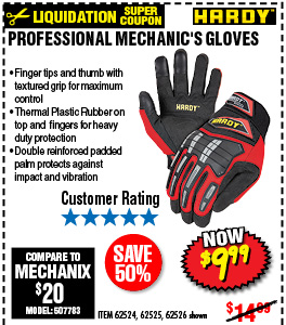 Professional Mechanic's Gloves