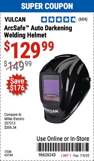 ArcSafe™ Auto Darkening Welding Helmet