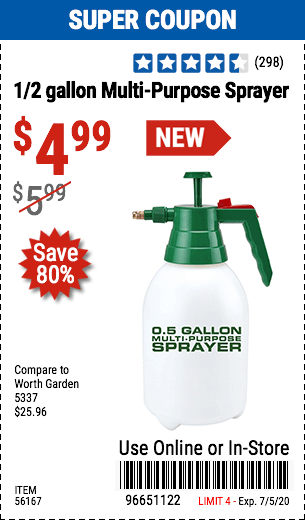 0.5 gallon Multi-Purpose Sprayer