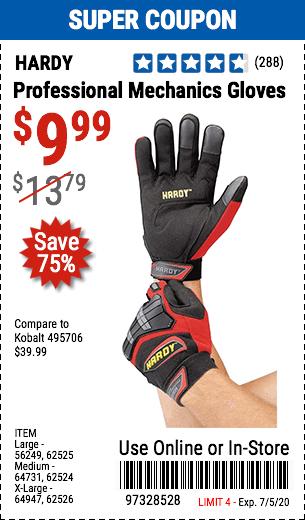 Professional Mechanics Gloves Medium