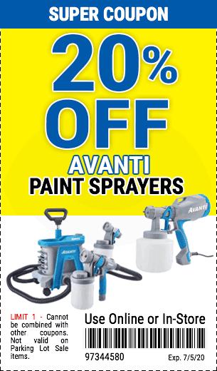 20% off Avanti Paint Sprayers