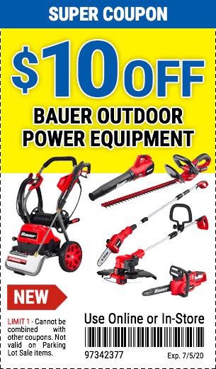 $10off Bauer Outdoor Power Equip (6skus)