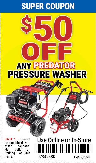 $50 off Predator Pressure Washer
