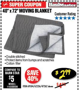340 in.  x 72 in. Moving Blanket