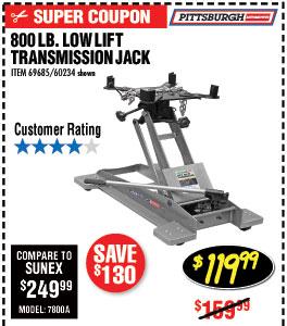 800 lb. Low Lift Transmission Jack