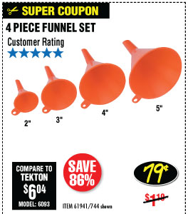 Funnel Set 4 Pc.2 in. Professional Paint Brush
