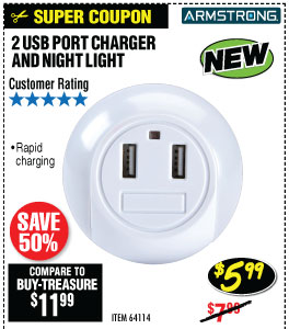 2 USB Port Charger and Night Light