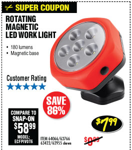 Rotating Magnetic LED Worklight
