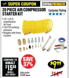 20 Pc Air Compressor Starter Kit