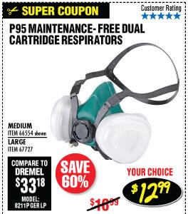 P95 Maintenance-Free Dual Cartridge Respirator