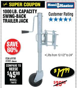 1000 lbs. Capacity Swing-Back Trailer Jack
