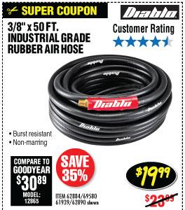 43/8 in. x 50 ft. Premium Rubber Air Hose
