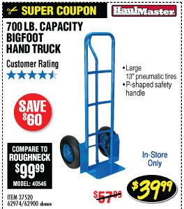 700 lbs. Capacity Bigfoot Hand Truck