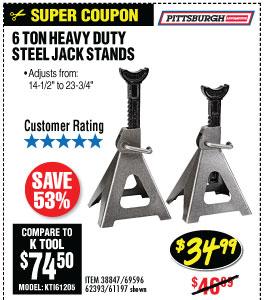 6 ton Steel Jack Stands