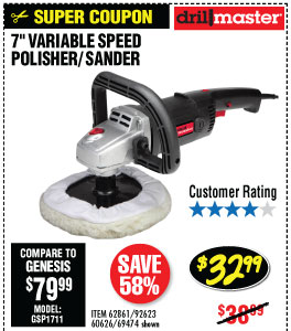 7 in. 10 Amp Variable Speed Polisher