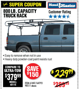 800 lbs. Capacity Full Size Truck Rack